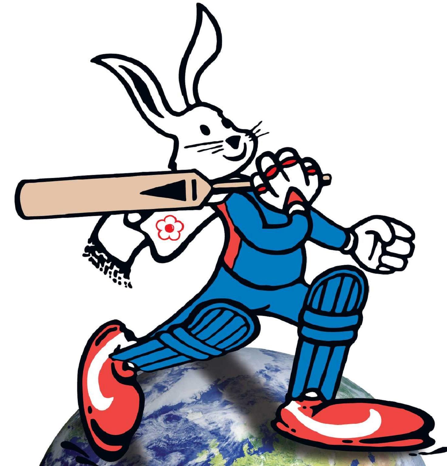 bunny-on-globe